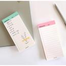 Manage series checklist notepad