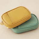 Indi yellow, Vintage mint - A low hill basic pocket card case pouch