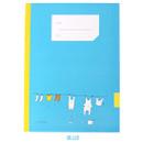 Blue - Simsimtokki illustration lined school notebook
