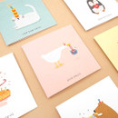 Animal message card with envelope