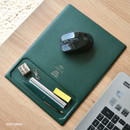 Deep green - Play obje Square tray with mouse pad