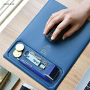 Navy blue - Play obje Square tray with mouse pad