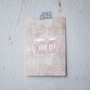You and me message postcard