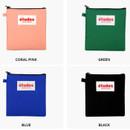 Colors of Etudes slim cotton square pouch