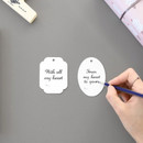 2 labels - ICONIC From my heart cute gift wrapping paper set