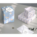 A  - ICONIC From my heart cute gift wrapping paper set