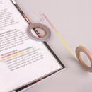 Rainbow deco slim masking tape