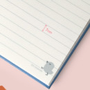 Detail of Cute illustration hardcover small lined notebook