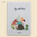 Forest - Cute illustration hardcover small lined notebook