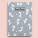 Dance - Cute illustration hardcover small lined notebook