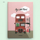 Bus - Cute illustration hardcover small lined notebook