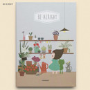 Be alright - Cute illustration hardcover medium lined and plain notebook