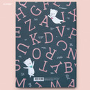 Alphabet - Cute illustration hardcover medium lined and plain notebook