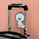 Bichon -Jam studio Hello puppy travel luggage name tag