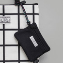 BNTP Double pocket small zipper pouch with strap