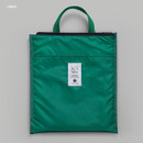 Green - BNTP Coated cotton medium document tote bag