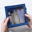 Blue - BNTP Washer block square medium zipper pouch