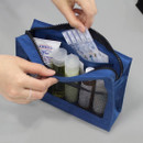 Blue - BNTP Washer block square large zipper pouch