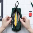 Green - BNTP Washer long zipper pouch pencil case
