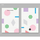 Color - Lined pages - BNTP Be nice to write shape lined notebook