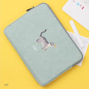 Cat - Tailorbird embroidery 15 inches laptop case