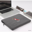 Red fox - Tailorbird embroidery 15 inches laptop case