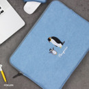 Penguin - Tailorbird embroidery 15 inches laptop case