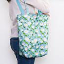 New camellia - Pattern canvas shoulder bag