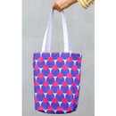 Circle friends - Pattern canvas shoulder bag