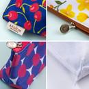 Detail of Pattern canvas zipper pouch