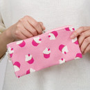 Pattern canvas zipper pencil case