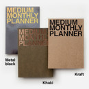 Colors of Medium 16 months undated monthly planner