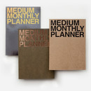 Medium 16 months undated monthly planner