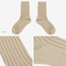 Beige - Dailylike Comfortable yours for life knit rib women socks