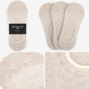Beige - Dailylike Comfortable yours for life men no show socks set