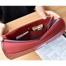 Burgundy - Play obje Extra opening of new days file bag clutch pouch