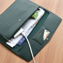 deep green - Play obje Extra opening of new days file bag clutch pouch