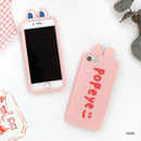 Pink - ROMANE Brunch brother popeye silicone case for iPhone 8 7 6s 6