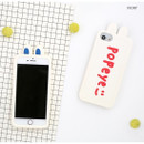 Ivory - ROMANE Brunch brother popeye silicone case for iPhone 8 7 6s 6