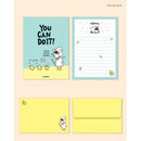 You can do it - Cute illustration small letter paper and envelope set