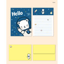 Hello - Cute illustration small letter paper and envelope set