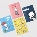 Cute illustration small letter paper and envelope set