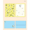 Pattern - Cute illustration small letter paper and envelope set