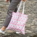 Triangle - Colorful cotton canvas tote bag