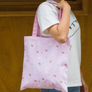 Rose rabbit - Colorful cotton canvas tote bag