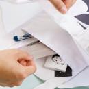 Inner pocket - Alphabet letter A cotton canvas tote bag
