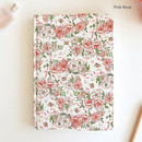 Pink rose - Florence A5 hardcover lined notebook