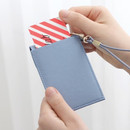 Back pocket - Un jour de chance slim pocket card case with neck strap