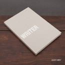 Light gray - Writer hardcover plain and lined notebook