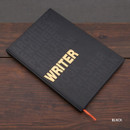Black - Writer hardcover plain and lined notebook